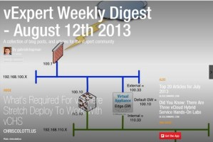 vExpert Weekly Digest – August 12th 2013