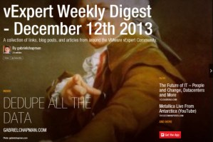 vExpert Weekly Digest – December 19th 2013