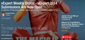 vExpert Weekly Digest – vExpert 2014 Submissions Edition