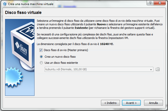 installare windows xp su virtual box (3/6)