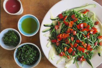 Bohnen-Zucchini-Salat