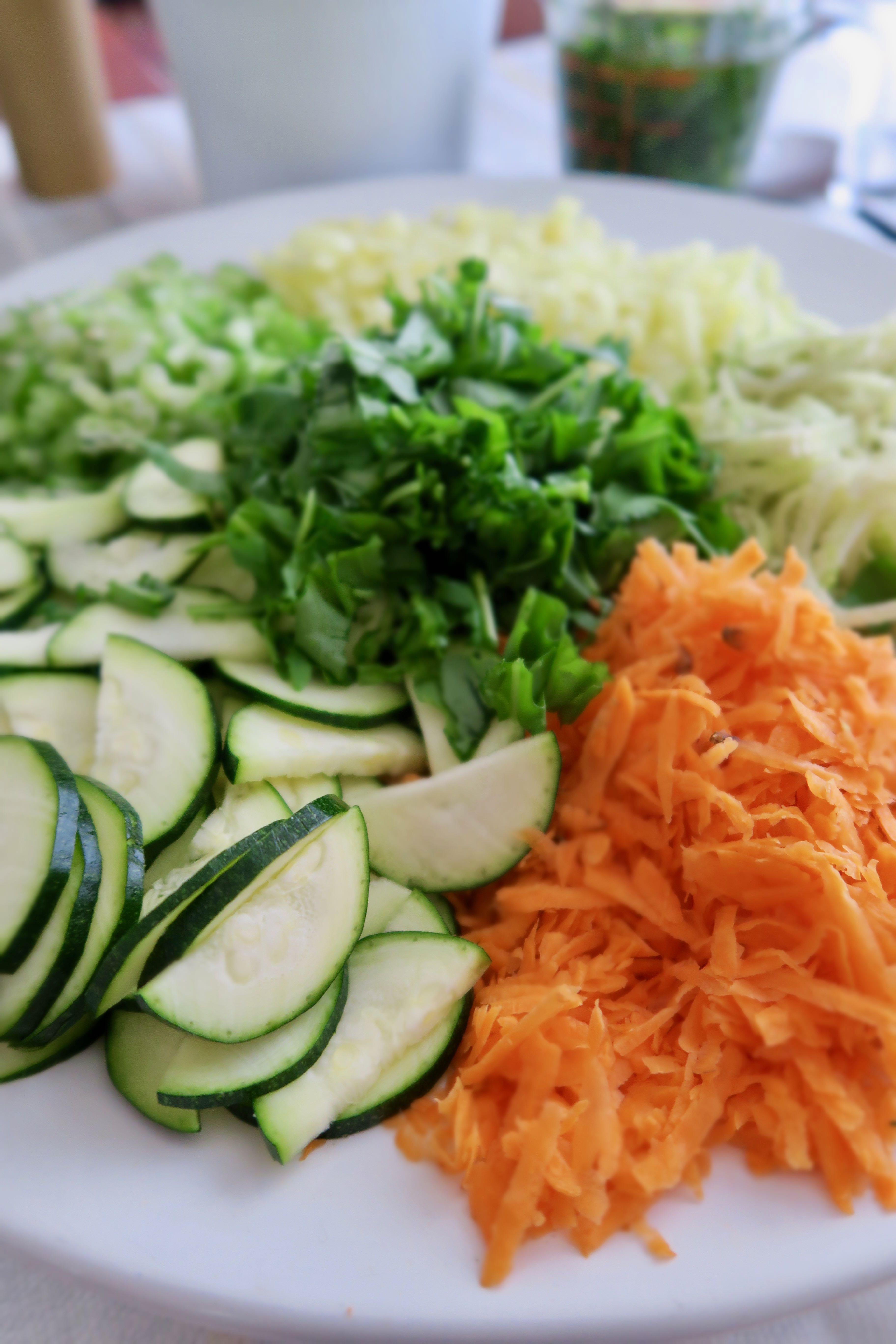 Salat Möhren Fenchel Staudensellerie Zucchini Paprika
