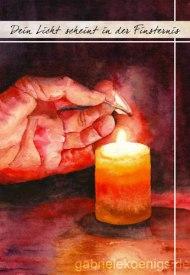 Dein Licht scheint in der Finsternis (Weihnachtskarte 2012)