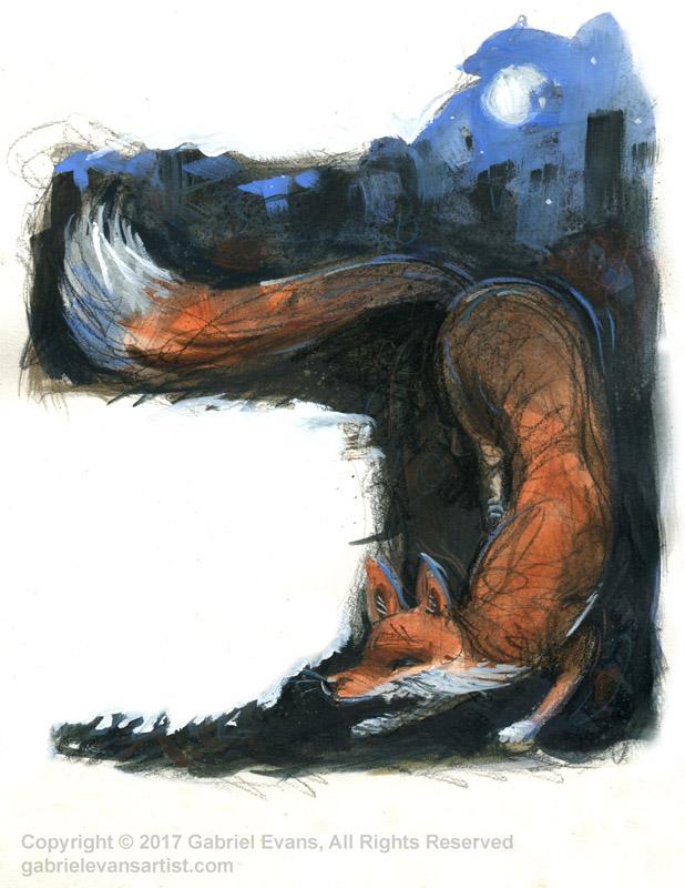 The School Magazine 2017/Fox Trott - Watercolour and Gouache
