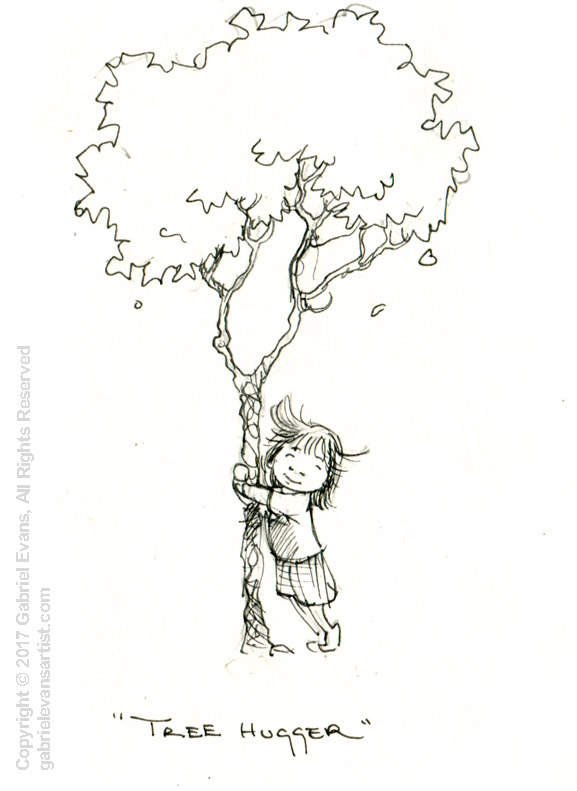 Tree Hugger - Ink