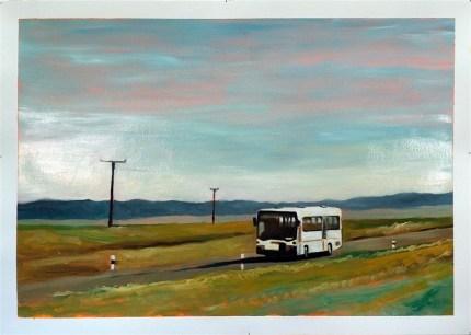 A viagem. Oil on paper, 70x100 cm 2015