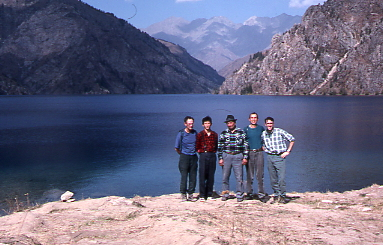 Sary-Chelek lake and our expedition team