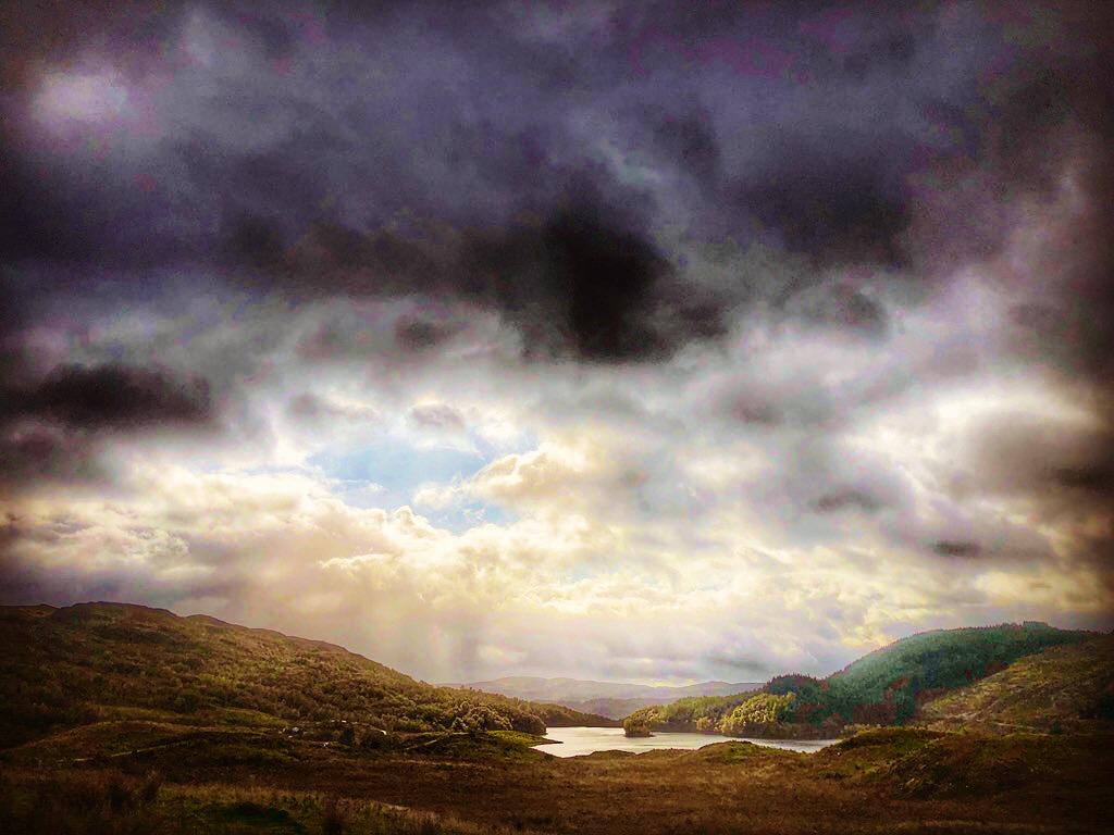 Glen Finglas stormy landscape Gabriel Hemery