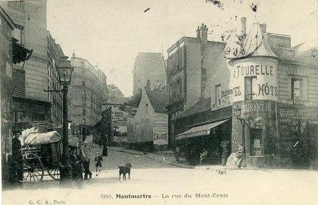 Parigi, quartiere di Montmartre ai primi dell'800