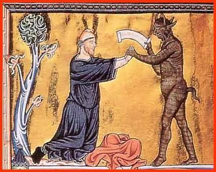 """Demone - da un codice dell'opera di Rodolfo il Glabro, """"Historiarum libri quinque"""""""