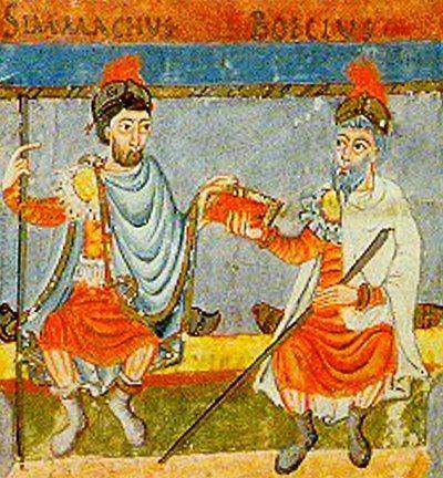 Anonimo medievale, Boezio e Simmaco