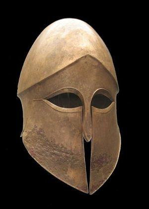 elmo di tipo corinzio, 500-490 a.c.ca, Staatliche Antikensammlungen-di Monaco