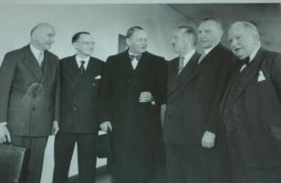 Strasburgo, 1952. Incontro tra capi di governo