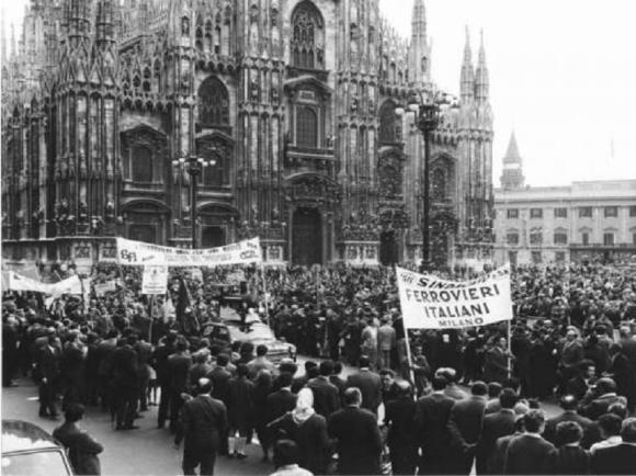 1 maggio 1968 Piazza del Duomo