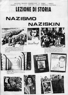 """Anche questo è un lavoro teso ha far comprendere, la follia del Nazismo e del razzismo. Lo hanno elaborato, sempre gli studenti del """"Serra"""" classe II E, anno 1992/93"""