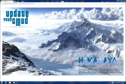Vacation Ad to Himalayas