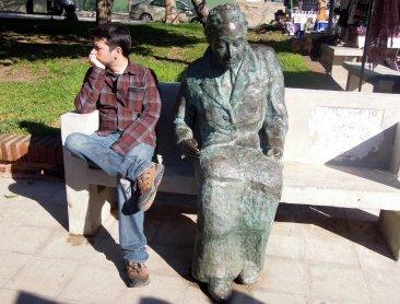 Mistral in Plaza de los Poetas Valparaíso