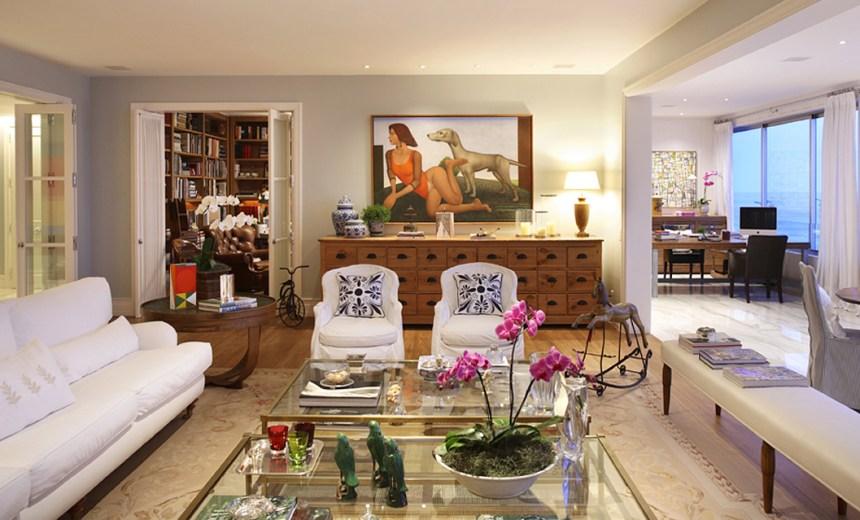 Aconchego clássico em apartamento em Ipanema