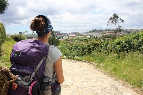 First View of Santiago de Compostela