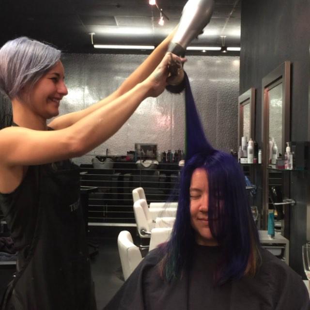 @sabrinafae did an outstanding job on Amanda's hair
