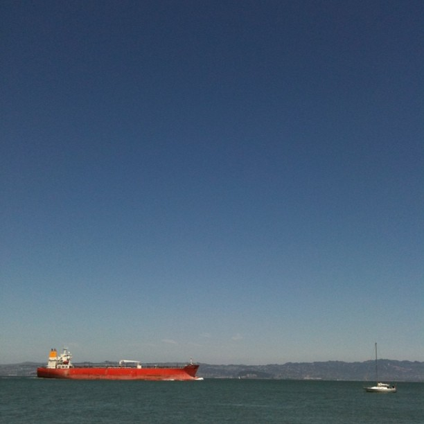 Anchored for lunch at Angel Island