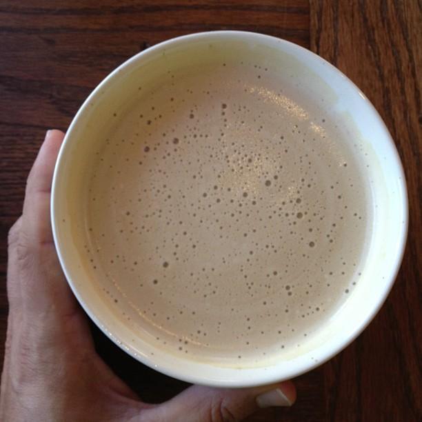 Bowl of latte
