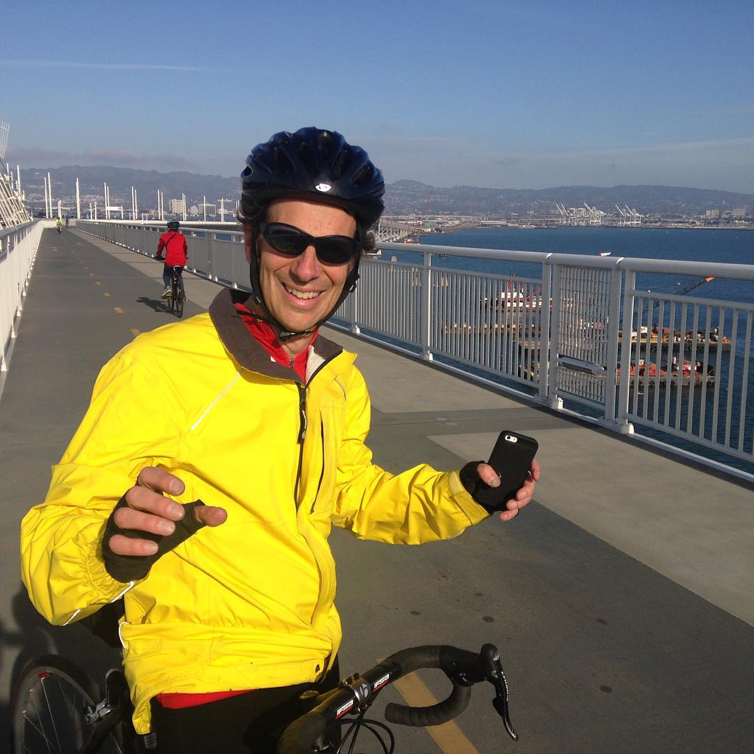 First day the Bay Bridge bike path is all the way open to Treasure Island!