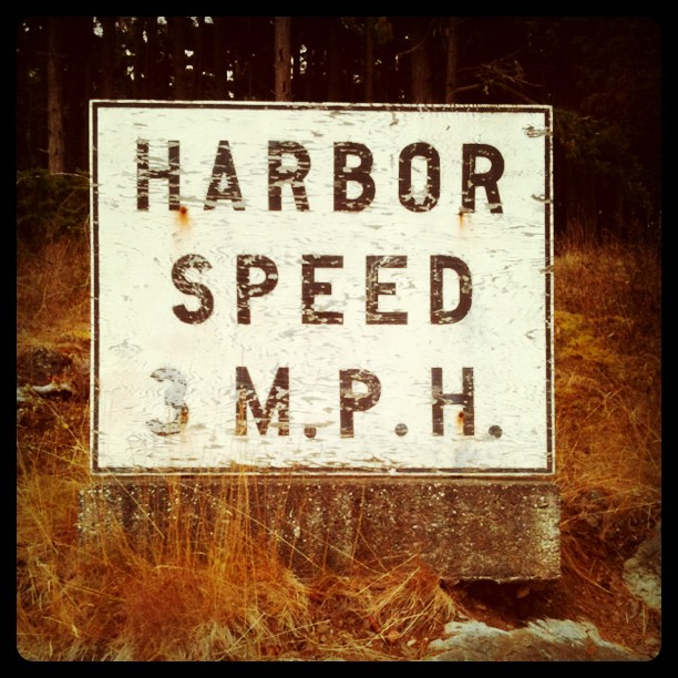 Harbor speed 3 M.P.H.