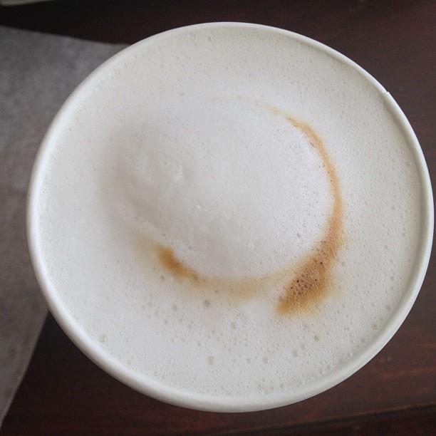 Milk foam latte