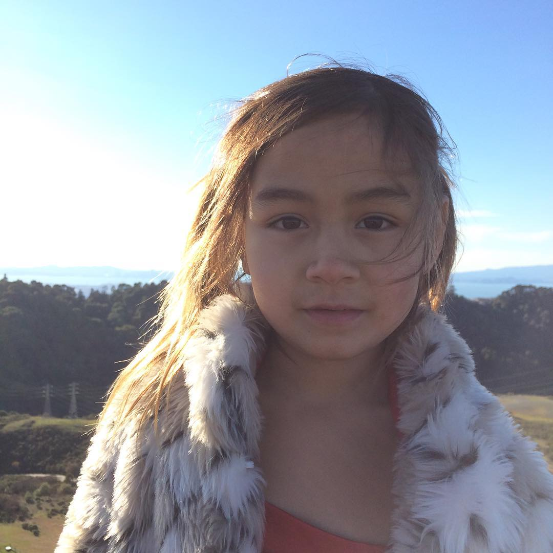 MinMai is a California girl. Out for a beautiful New Years Day hike with Damon and family at Sibley