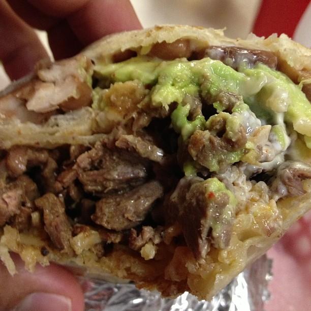 Really tasty carne asada super burrito
