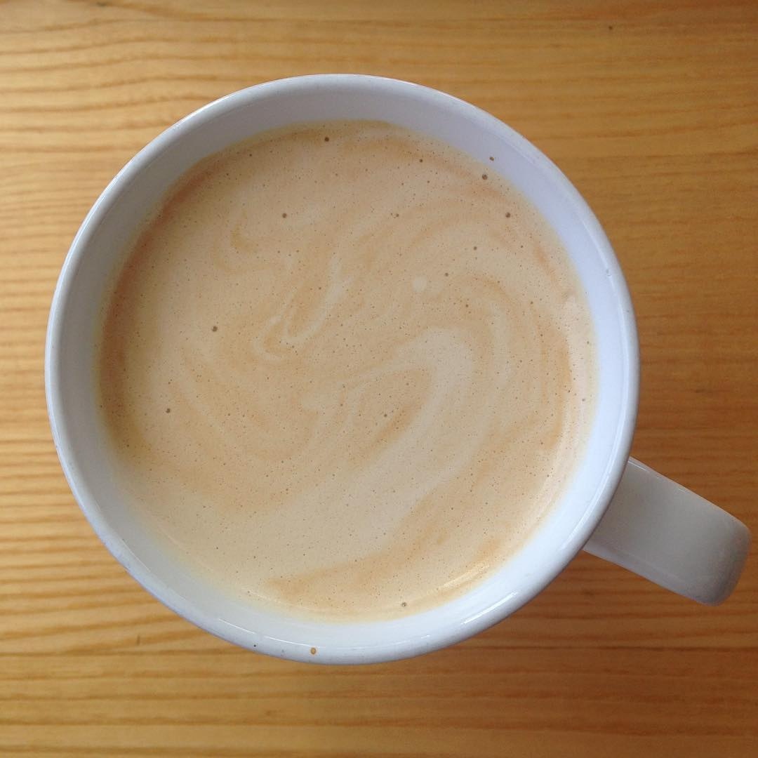 Workin' on a Saturday latte
