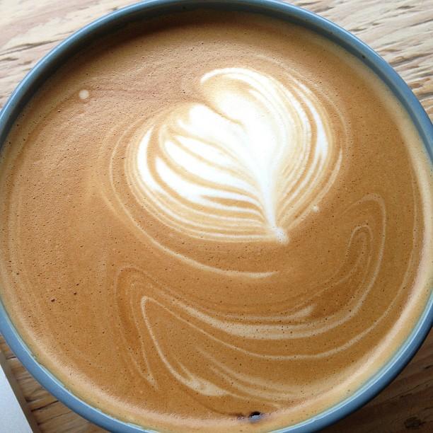 Worth the trip here: Strauss Dairy whole milk latte