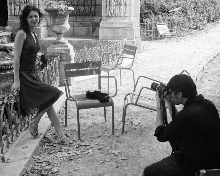Photographer Gabriel Solis shooting with a Russian Model in Paris