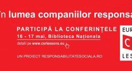 Astazi si maine voi fi prezent la European CSR Lessons