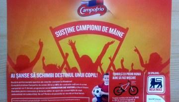 Susține campionii de mâine – o super campanie Campofrio cu sprijinul World Vision Romania si Mega Image