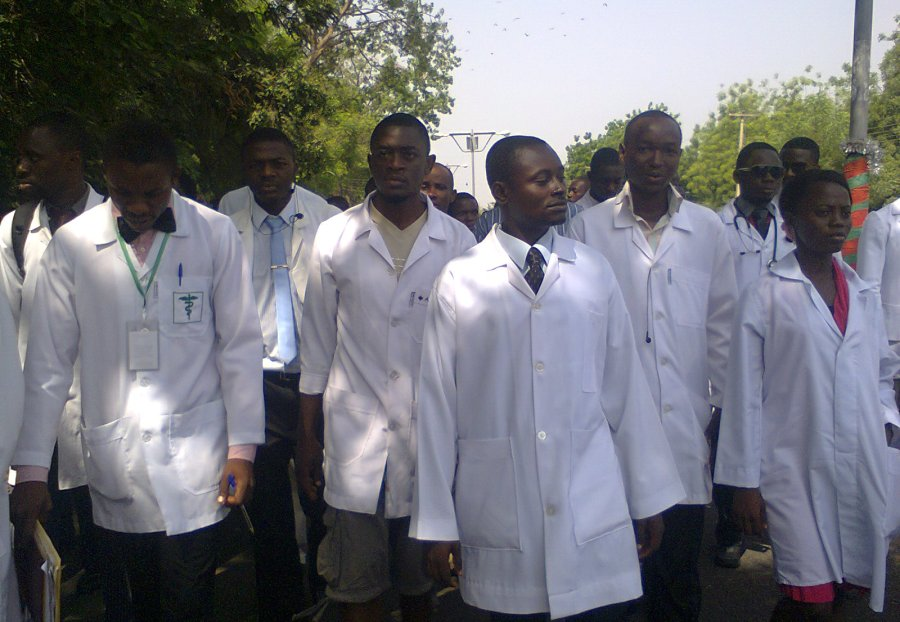 Health-Workers in protest