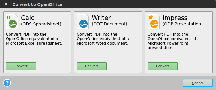 open office to pdf converter online