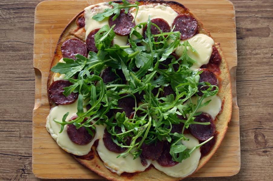PBCo protein pizza with cacciatore