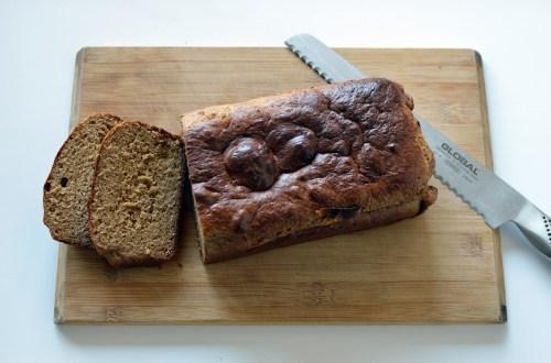 Peanut butter protein banana bread