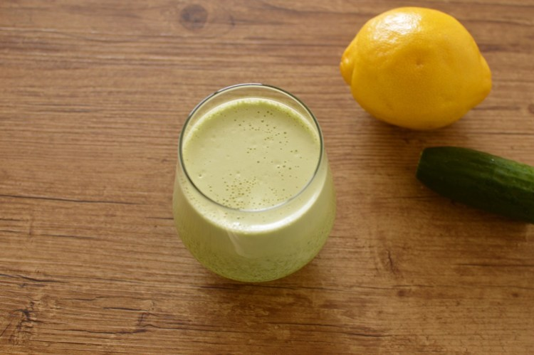 cucumber lemon green protein shake