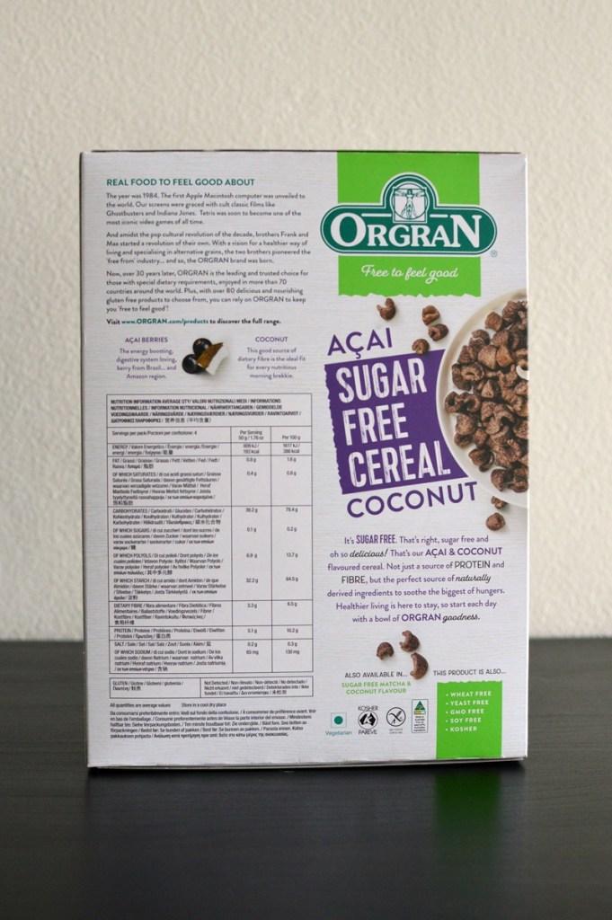 Orgran Sugar-Free Cereal Acai & Coconut