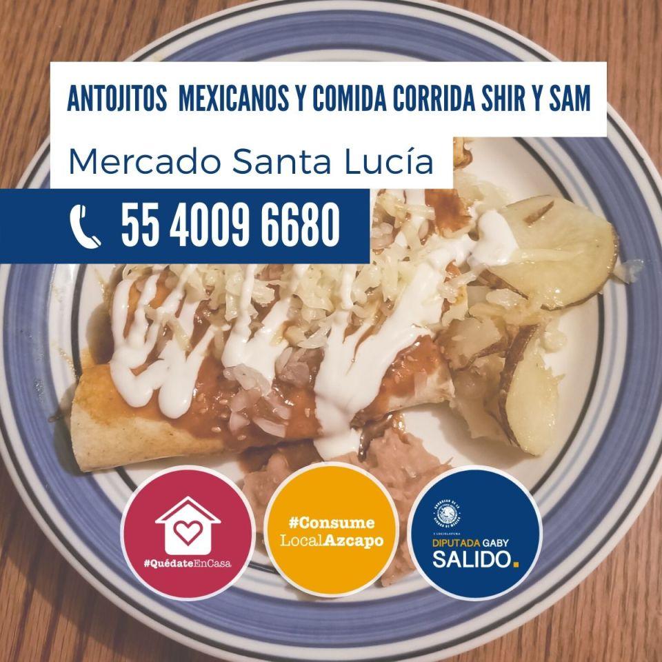 Anotjitos mexicanos y comida corrida Shir y Sam