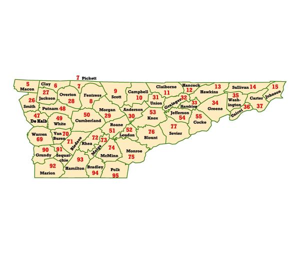 WIMS County ID Maps