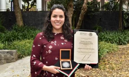 Andrea Sánchez Navarro,  ganadora del Premio Nacional de la Juventud