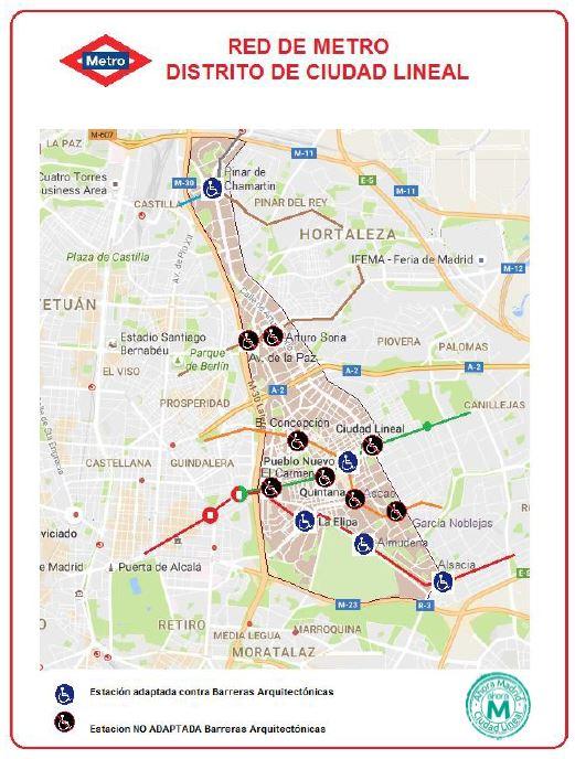 Ahora Madrid Ciudad Lineal propone un Metro sin barreras