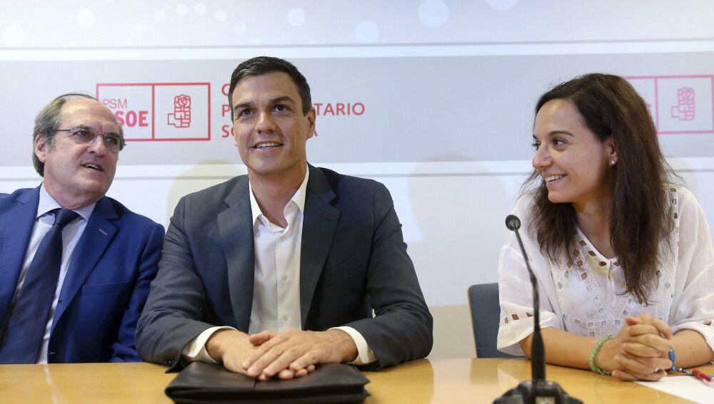 Pedro Sánchez se reúne con Ángel Gabilondo y Sara Hernández y deciden no apoyar la moción de censura a Cifuentes
