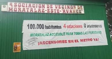 Los vecinos de Moratalaz se manifestarán este sábado por los ascensores en sus 4 estaciones de Metro