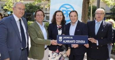 """Unos jardines de Chamberí llevarán el nombre del Almirante Pascual Cervera, al que Ada Colau quitó una calle por """"facha"""""""