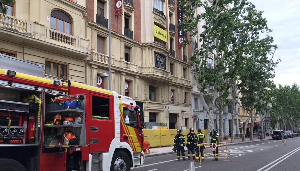 Se derrumba parte de un edificio de siete plantas en obras de Chamberí